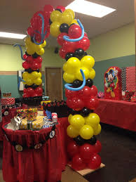 Mickey Mouse Party Theme Decorations - exterior balloon centerpieces ideas birthday balloon decoration