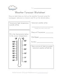 weather forecast worksheet daily activities pinterest