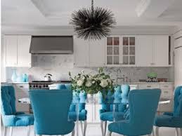 kitchen island painted in benjamin moore poolside 775 interiors