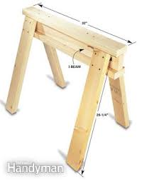 How To Build A Trestle Table Savvy Sawhorse Table Tips Family Handyman