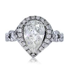 debeers engagement rings gia certified white gold halo set pear shape diamond engagement ring