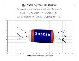 halloween math cartesian art halloween candy