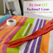no sew diy backseat cover to keep your car so fresh and so clean