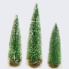 3pc mini frosted glitter christmas trees u2013 flexineon u0027s christmas