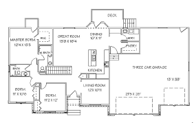 attractive inspiration one story house plans with basement unique