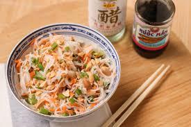 cuisiner vermicelle de riz salade de vermicelles de riz à la coriandre et cacahuètes