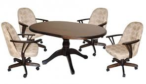kitchen table and chairs with casters kitchen chairs wheels kitchen chairs wheels dining table on