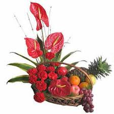 fruit flowers delivery gracious fruits flowers in india valentines day gifts to india