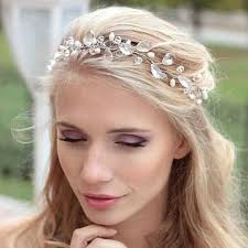 forehead bands copper water drop rhinestone hairbands wedding hair