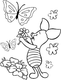 popular character free coloring activity winnie pooh piglet
