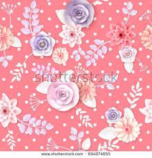 flowers seamless pattern element vector background vector flowers seamless pattern element elegant stock vector