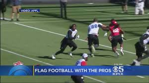 Flag Football Equipment Former Nfl Players Get Ready For Professional Flag Football Youtube