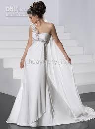 wedding dresses goddess style 2011 newest style white one shoulder goddess chiffon wedding