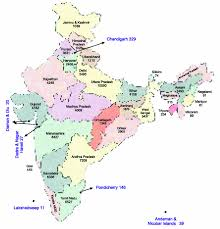 India States Map State Wise Branches Of Commercial Banks In India 2010