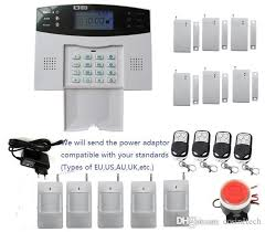diy alarm kit with lcd display screen 7 wired and 99 wireless defense zones wireless home security burglar gsm sms alarm system