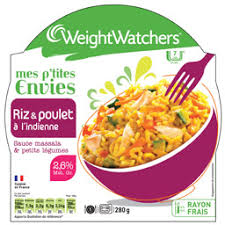 plat cuisiné weight watcher weight watchers riz et poulet à l indienne 300 g auchan direct
