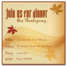 thanksgiving day invitation templates happy thanksgiving