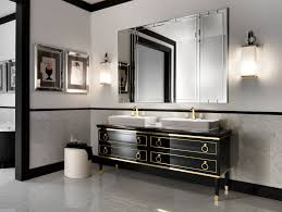 Black Bathroom Vanity With White Marble Top by Carved Black Wooden Bath Vanity Using Black Marble Countertop