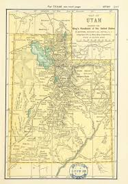 Utah Map With Cities And Towns by Map Of Utah 1891 Maps Pinterest