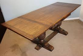 Antique Oak Draw Leaf Refectory Dining Table - Antique oak kitchen table