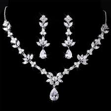 necklace zirconia images Marquise cz cubic zirconia necklace set jpg