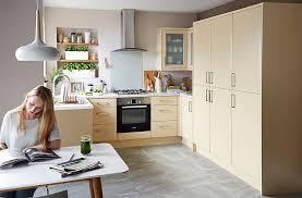 maple kitchen furniture it sandford maple effect modern diy at b q