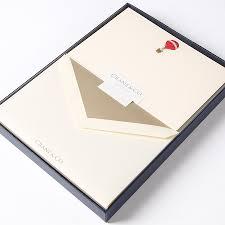 air balloon engraved flat correspondence cards by crane co