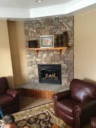 stone gas fireplace designs home design