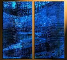 cobalt blue home decor cobalt blue wall art 2 piece canvas photography home decor art blue