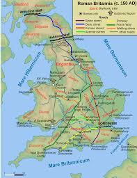 Pompeii Map Roman Roads In Britain Simple English Wikipedia The Free