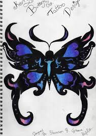 butterfly tattoos designs blue and purple blue butterfly tattoo
