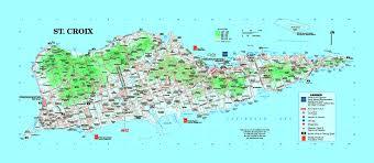 map st croix large tourist map of st croix island u s islands us