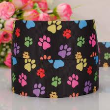 dog ribbon dog paw print ribbon online dog paw print ribbon for sale