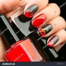 halloween nail art design nail polish stock photo 328792553
