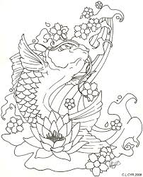 koi fish pisces and blossoms tattoos sketch photos pictures and