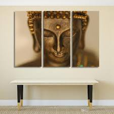 2017 golden buddha statue wall art canvas pictures for living room
