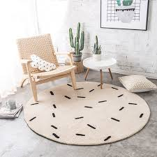 round rugs for living room 80 100cm beige europe simple round rug soft shaggy floor chair