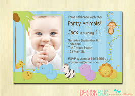 Greeting Cards For Invitation First Birthday Boy Invitation Baby Jungle Safari Party