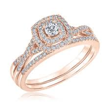 bridal engagement rings images Ellaura blush round diamond double cushion halo rose gold bridal jpg
