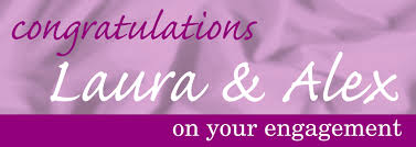 congratulations engagement banner engagement congratulations with satin background personalised