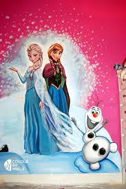 Popular Characters Murals Roommates Hand Painted Frozen Mural Frozen By Colour My Walls Pinterest