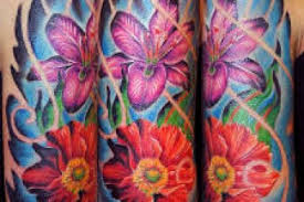 tropical flower tattoo sleeve 4k wallpapers