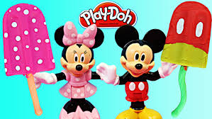 play doh mickey mouse popsicle play doh minnie mouse popsicle