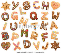 free christmas alphabet cookies download free vector art stock
