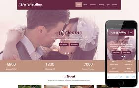 my wedding a wedding planner flat bootstrap responsive web