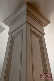 custom trimmed column hiding an ugly support beam cossentino