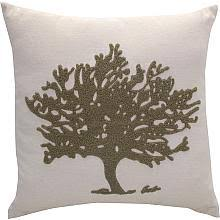 green tree pillow