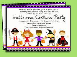 Kids Birthday Party Invitation Card Elegant Halloween Kids Costume Party Invitation Card Designed By