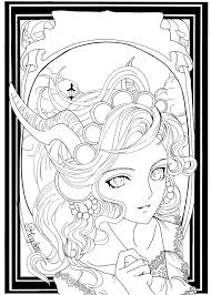 autumn halloween by king anne on deviantart coloring pages