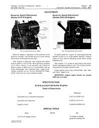 kohler serial number significance table 110 and 112 lawn and garden tractors serial no 100 000 service